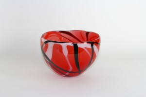 Adam Aaronson Red Doodle Bowl at Surrey Artist of the Year, New Ashgate Gallery
