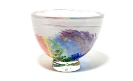 Rainbow bowl by Adam Aaronson