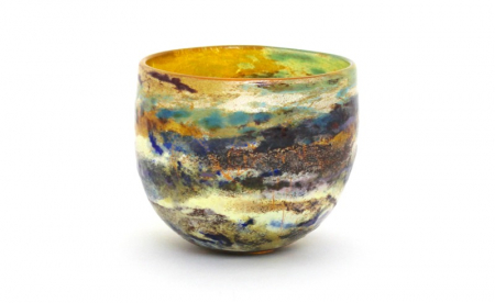 Spring Horizon Medium Landscape Bowl by Adam Aaronson