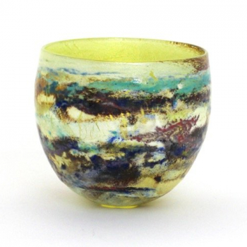 Spring Vista medium landscape bowl by Adam Aaronson