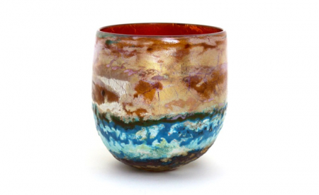 Winter Sky Medium Landscape Bowl by Adam Aaronson