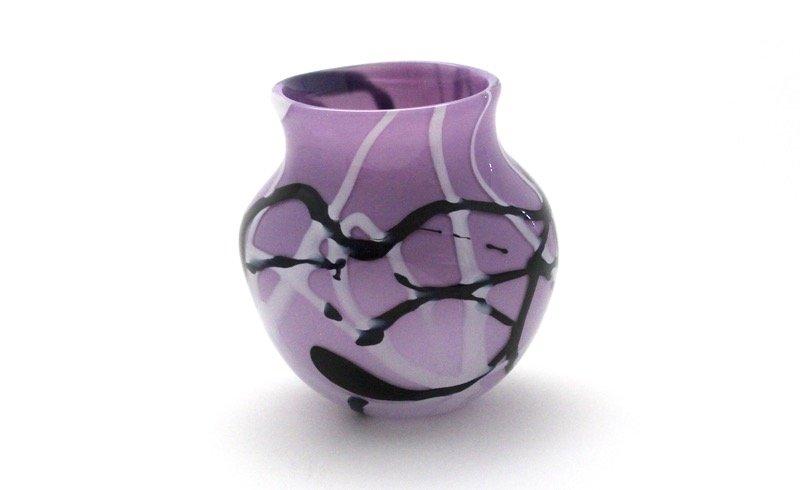 Lilac Doodle Vase