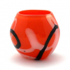 Orange Doodle Vase