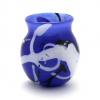 Blue Doodle Vase