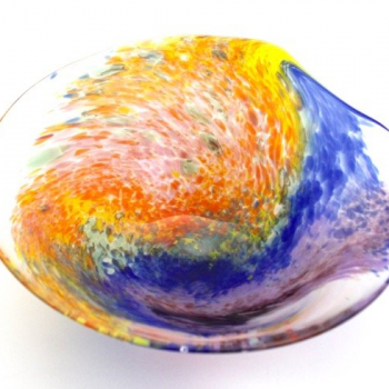 Rainbow large bowl by Adam Aaronson