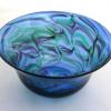 Turquoise Emerald Purple Bowl by Adam Aaronsonl