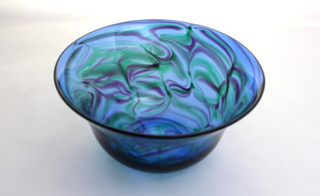 Turquoise Emerald Purple Bowl by Adam Aaronsonl