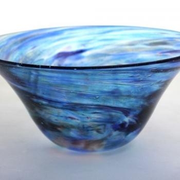 Turquoise Ocean Bowl by Adam Aaronson