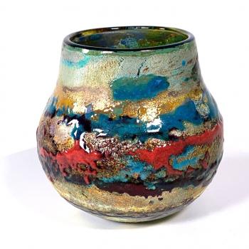 Sunset is a Handblown Landscape pot by Adam Aaronson