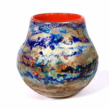 Summer Fields, Landscape Pot by Adam Aaronson