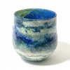 vBlue Horizon Handblown Glass Lansdcape Bowl By Adam Aaronson