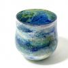 Blue Horizon Handblown Glass Lansdcape Bowl By Adam Aaronson