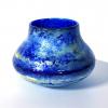 Blue Reflections Handblown Glass pot by Adam Aaronson