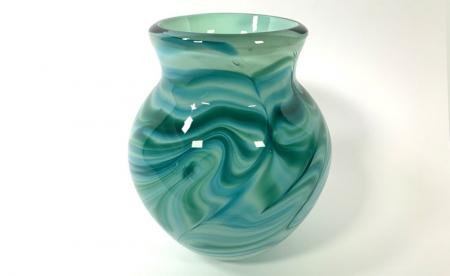 Celadon Emerald Morris Vase by Adam Aaronson