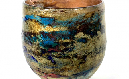 Ranmore Mist Handblown Glass Bowl by Adam Aaronson