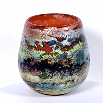 Ranmore Sunset Handblown Glass Vase by Adam Aaronson