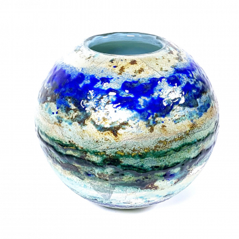 River Walk II Handblown Glass Vase by Adam Aaronson