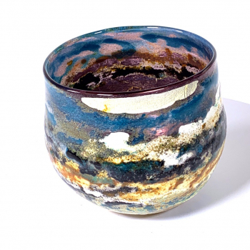 River View Handblown Glass Bowl by Adam Aaronson