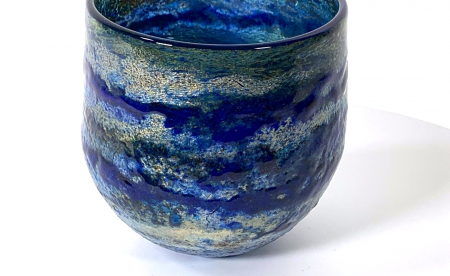River Walk Small Handblown Glass Bowl by Adam Aaronson