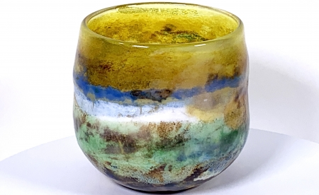 Spring Sky Handblown Glass Bowl by Adam Aaronson