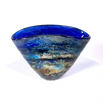 Winter Sky Handblown Glass Vase by Adam Aaronson