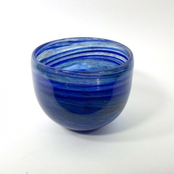 Ocean Bowl, handblown glass bowl by Adam Aaronson