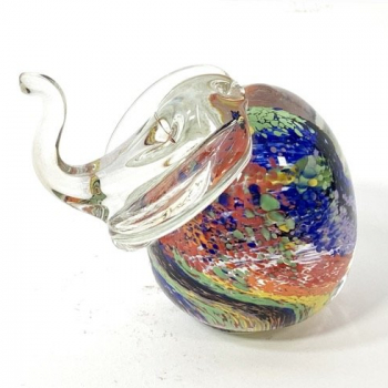 Rainbow Elephant Handmade Glass by Adam Aaronson