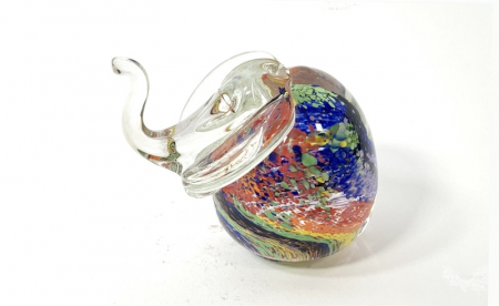 Rainbow Elephant Handmade Glass by Adam Aaronson