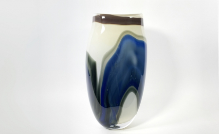 Winter Lightscape by Adam Aaronson handblown glass