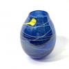 Blue lustre vase handblown glass by Adam Aaronson