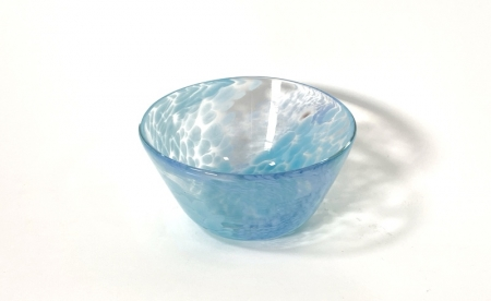 Pale Blue Swirly Bowl Handmade Glass by Adam Aaronson