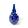 Blue lustre bottle hand made glass by Adam Aaronson