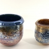Crackle Pots hand made glass by Adam Aaronson