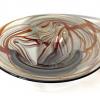 Autumn Morris Bowl, handblown glass bowl by Adam Aaronson