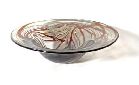 Autumn Morris Bowl, handblown glass bowl by Adam Aaronson