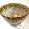 Autumn Rainbow bowl Handblown Glass by Adam Aaronson