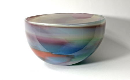 Beachcomber Horizon Bowl Handmade Glass Bowl by Adam Aaronson