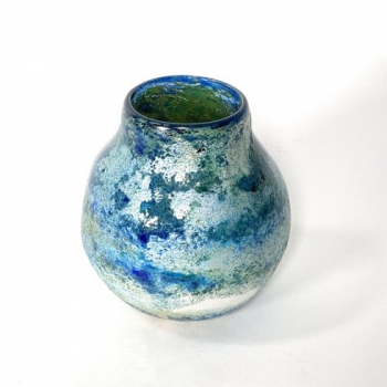 Blue Horizon Vase , Handblown Glass by Adam Aaronson