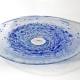 Blue Whirlpool Bowl. Unique handmade glass bowl by Adam Aaronson