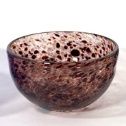 Burgundy Montmartre Bowl, Handblown glass by Adam Aaronson
