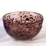 Burgundy Montmartre Bowl, Handblown glass by Adam Aaronson