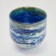 Deep Blue Horizon Vase , Handblown Glass by Adam Aaronson