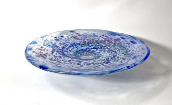 Cornflower and Clover Bowl, handmade glass by Adam Aaronson