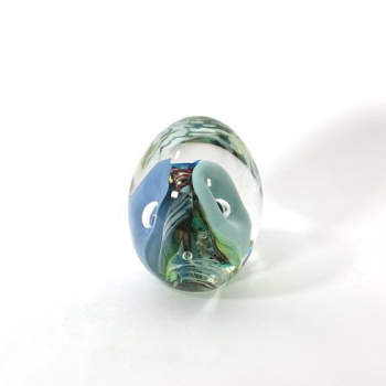 Dual Personality Handmade Glass Paperweight by Adam Aaronson