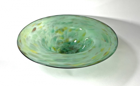 Everlasting Meadow Bowl, Handmade Glass Bowl by Adam Aaronson