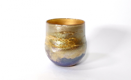 Gold Sunrise Bowl, handblown glass by Adam Aaronson