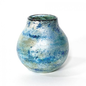Green Horizon Vase , Handblown Glass by Adam Aaronson