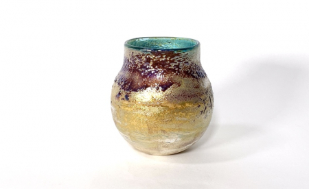Green Sunrise Vase, handblown glass by Adam Aaronson