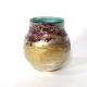 Green Sunrise Vase, handblown glass by Adam Aaronson