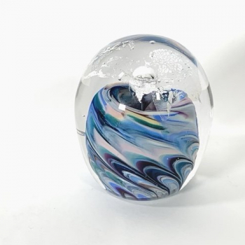 Marble Fountain, Handmade Glass Paperweight by Adam Aaronson